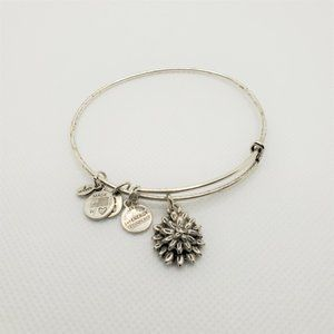 Alex and Ani Lotus Charm Bangle